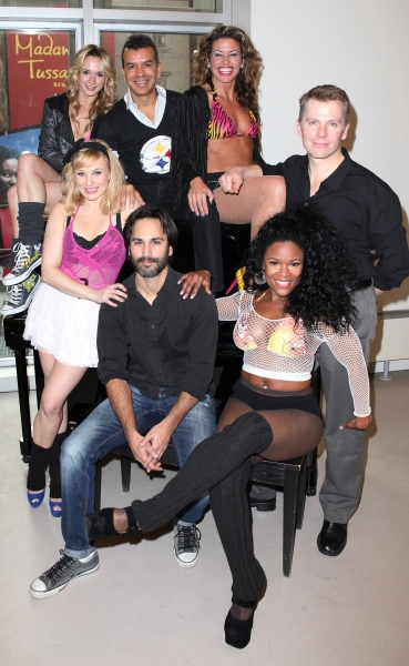 Emily Padgett, Robbie Roth, Kelly Felthous, DeQuina Moore , Rachelle Rak & Robert Cary at FLASHDANCE Cast Meets the Press!