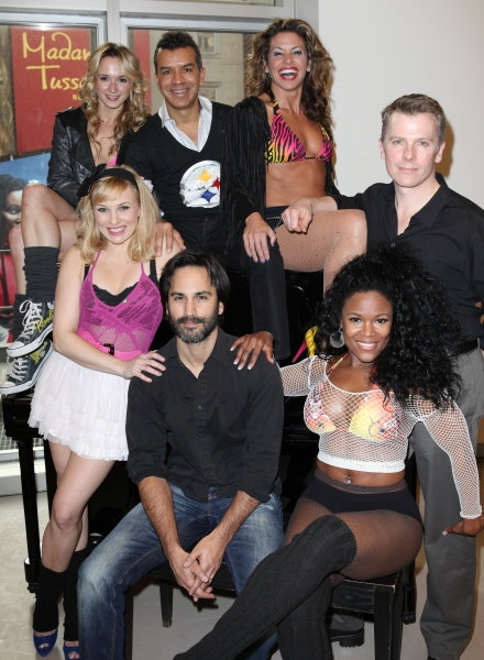 Kelly Felthous, Robbie Roth, DeQuina Moore, Emily Padgett, Sergio Trujillo, Rachelle Rak & Robert Cary  at FLASHDANCE Cast Meets the Press!