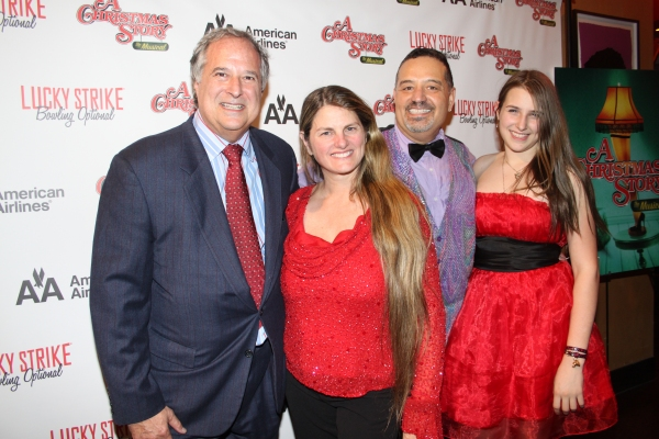 Stewart F.Lane, Bonnie Comley, Bruce Arakelian and Leah Lane at A CHRISTMAS STORY Opening Night Party!