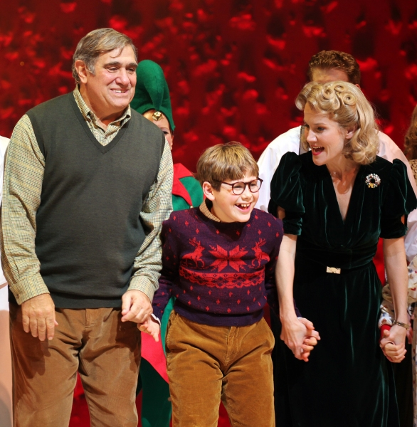 Dan Lauria, Johnny Rabe & Erin Dilly at A CHRISTMAS STORY Opening Night Curtain Call!