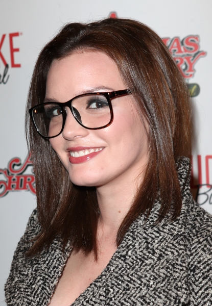 Jennifer Damiano at A CHRISTMAS STORY Opening Night Red Carpet - 'Ralphie Specs' Photo Booth Special!