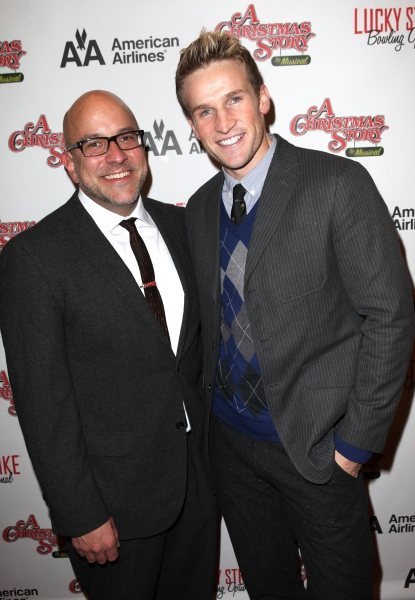 Eric Rosen & Claybourne Elder  at A CHRISTMAS STORY's Opening Night Arrivals!