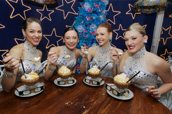 Photo Flash: Rockettes and Serendipity 3 Celebrate Anniversaries with Holiday Treat