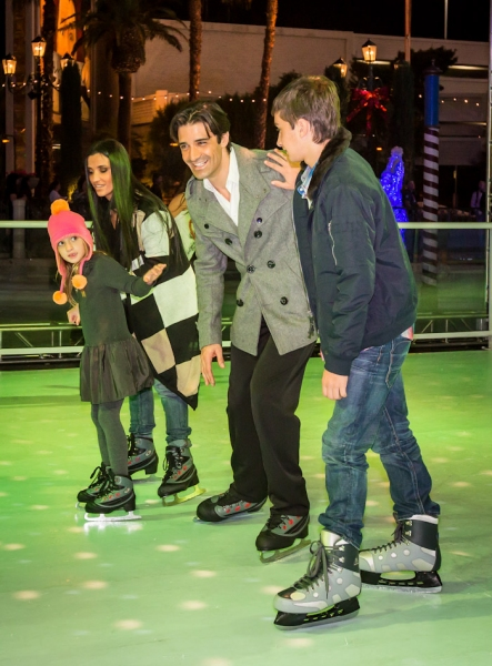 Gilles Marini and Family at RECAP - The Venetian and The Palazzo Kick Off WINTER IN VENICE With Gilles Marini, Dot-Marie Jones and Chip Davis! Photos Inside!