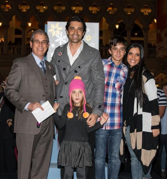 President John Caparella, Gilles Marini, and Family