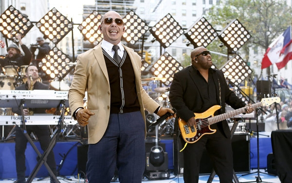 Photo Flash: Pitbull Performs on This Morning's TODAY Show on NBC