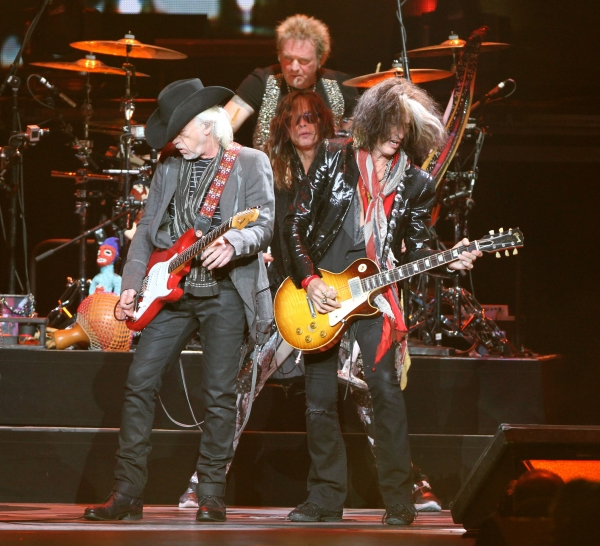 Brad Whitford, Steven Tyler, Joe Perry and Joey Krame