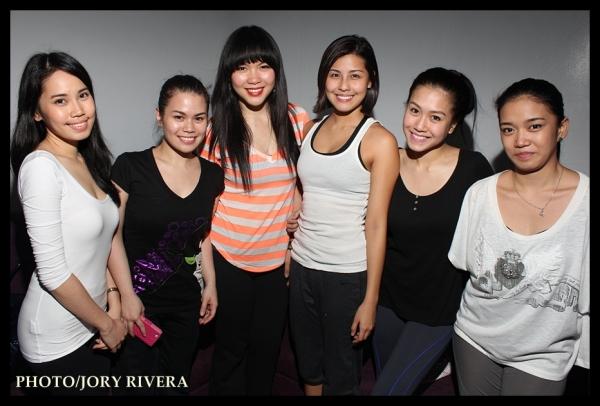 Emerald Banares, Tanya Manalang, Apple Chiu, Frencheska Farr, Rachelle Ann Go, Mary Joy Solomon (not in the photo: Aicelle Santos)