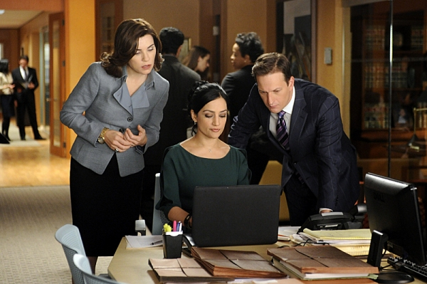 Archie Panjabi, Josh Charles, Julianna Margulies at 'Battle of the Proxies' Episode of CBS's THE GOOD WIFE