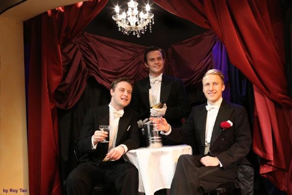 Stephen Ashfield, Craig Fletcher, and Ensemble