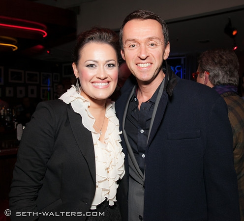 Ashley Brown and Andrew Lippa at Ashley Brown's BROADWAY AT BIRDLAND Debut