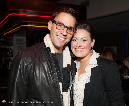 Ryan Silverman and Ashley Brown at Ashley Brown's BROADWAY AT BIRDLAND Debut