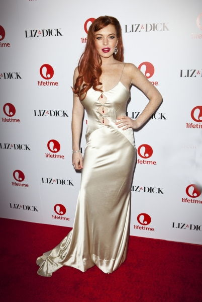 Lindsay Lohan attending 'Liz and Dick' film premiere in Los Angeles (Photo by Everett Collection / Rex USA)