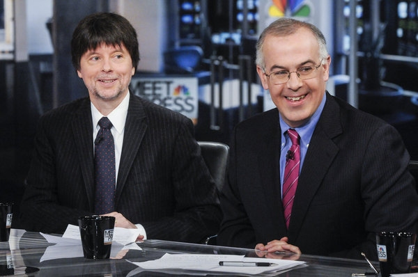 Ken Burns, David Brooks at Documentary Filmmaker Ken Burns on Sunday's MEET THE PRESS