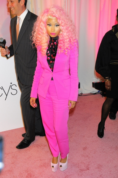 Nicki Minaj at her 'Pink Friday' fragrance launch, New York (Photo by Henry Lamb/Photowire / BEImages)