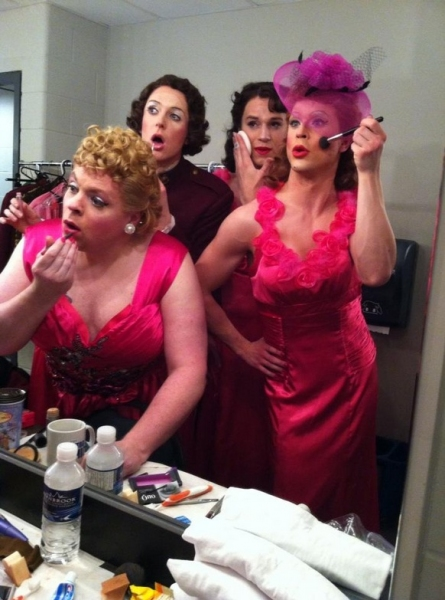 Photo Flash: Saturday Intermission Pics, Nov 24, Part 2 - EVITA's Max von Essen Bares All and More!