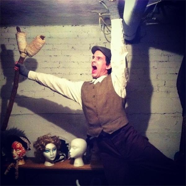 Photo Flash: Saturday Intermission Pics, Nov 24, Part 2 - EVITA's Max von Essen Bares All and More!