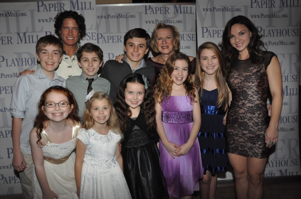 Joy Franz, Kristina von Trapp with the children-Gracie Beardsley, Jonathan Charette, Greta Clark, Maya Fortgang, Amanda Harris, Hunter A. Kovacs, Anna McCarthy and Sean McManus
