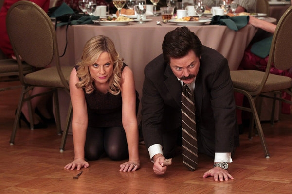 Amy Poehler, Nick Offerman at First Look - Christie Brinkley on PARKS AND RECREATION