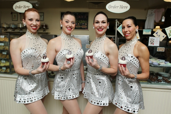 Photo Flash: Rockettes Unveil Rockettes Red Velvet Cupake at Magnolia Bakery