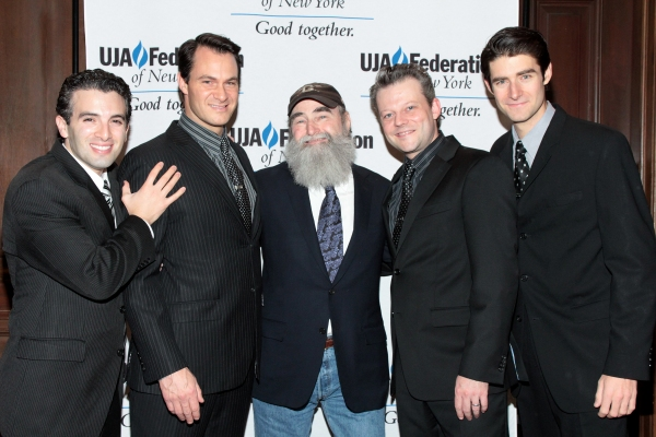 Jarrod Spector, Matt Bogart, Michael David, Jeremy Kushnier, Drew Gehling at Broadway Producer Michael David Honored by UJA