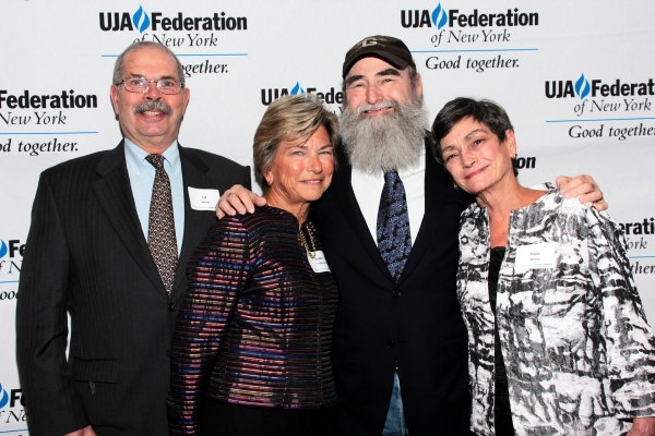 Ed White, Robin Albrecht, Michael David, Pixie White at Broadway Producer Michael David Honored by UJA