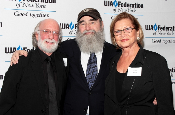 John Miller, Michael David, Constance Barrow at Broadway Producer Michael David Honored by UJA