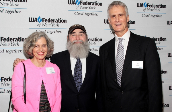 Laurel Strong, Michael David, Ed Strong at Broadway Producer Michael David Honored by UJA