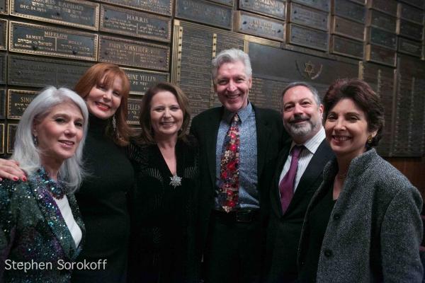 Jamie deRoy, Carol Ostrow, Randie Levine-Miller, Tony Sheldon, Pres. Bob Reicher, Rabbi Jill Hausman