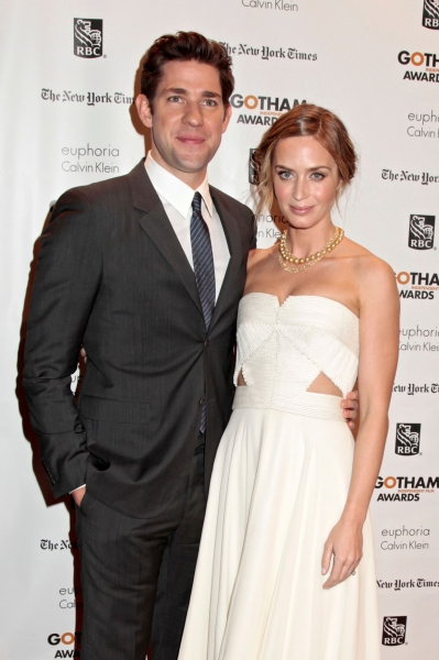 John Krasinski and Emily Blunt at Damon, Cotillard & More at Gotham Independent Film Awards