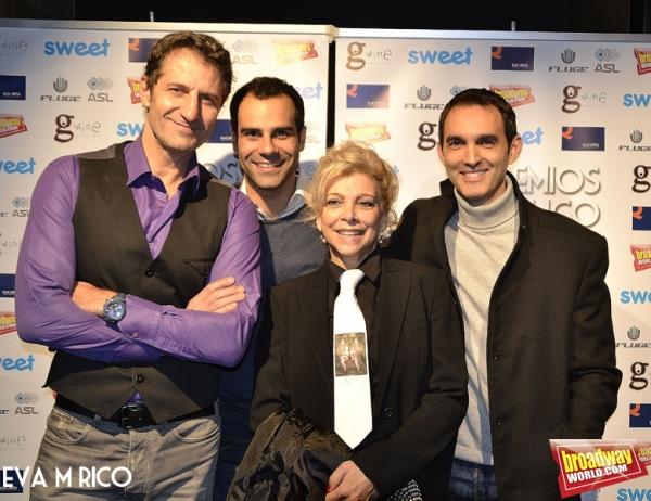 Bruno Squarzia, David Ordinas, Kiti Manver y Juan Carlos Rubio Ã'Â¡equipo de Est Photo