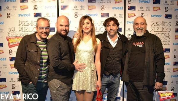 Salvador Toscano, Feliz Ortiz, Rebeca Medina, Javier Navares y Chemari Bello, ¡equipo Evil Dead el musical!