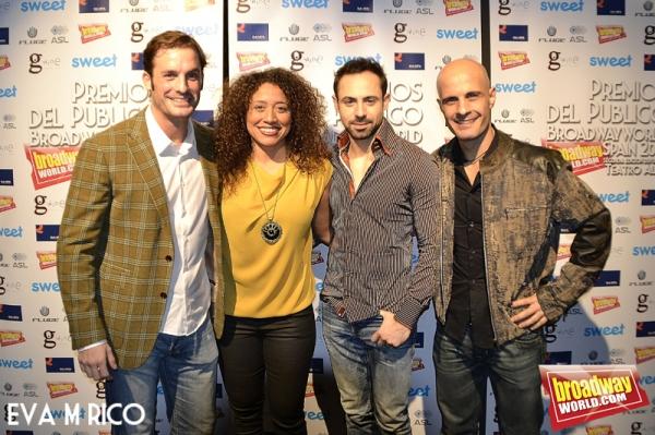 Beltr�'¡n Iraburu, Damaris Martinez, Alex de los Santos y Jorge Ahijado Photo