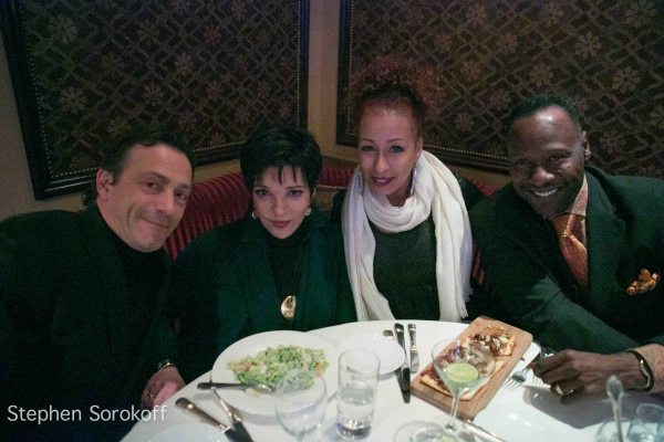 Lionel Casseroux, Liza Minnelli, Tamara Tunie, Gregory Generet at Michael Feinstein Brings A GERSHWIN HOLIDAY to Feinstein's