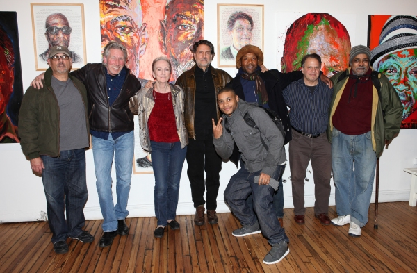 Bruce Kronenberg, Roger Waters, Kathleen Chalfant, Chris Sarandon, JD Williams, Curtis McClarin, Danton Stone and William Marshall  at Kathleen Chalfant, Roger Waters, and More Join THE EXONERATED
