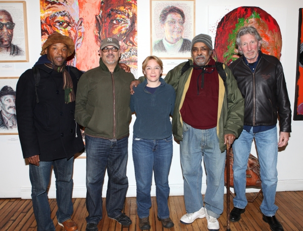 Curtis McClarin, Bruce Kronenberg, Amelia Campbell, William Marshall and Roger Waters Photo