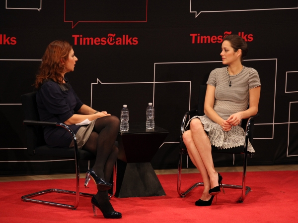 Photo Coverage: Marion Cotillard Visits TIMESTALKS!