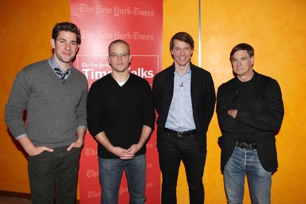 John Krasinski, Matt Damon, Hugo Lindgren & Gus Van Sant Photo