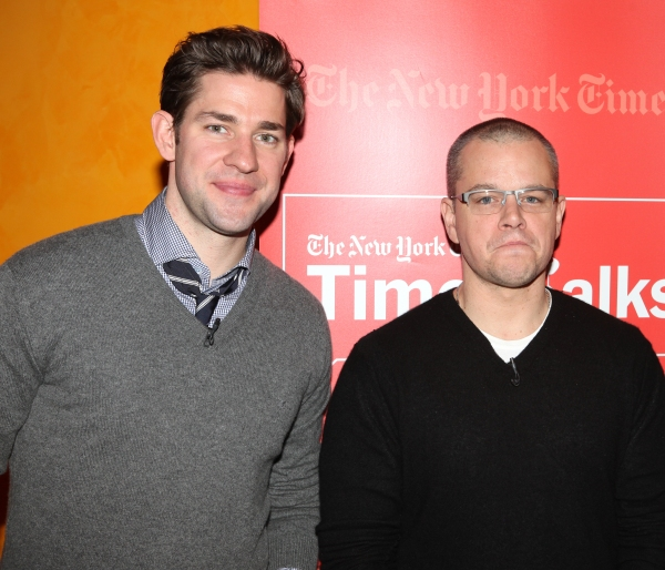 Photo Coverage: Matt Damon & Gus Van Sant Visit TIMESTALKS