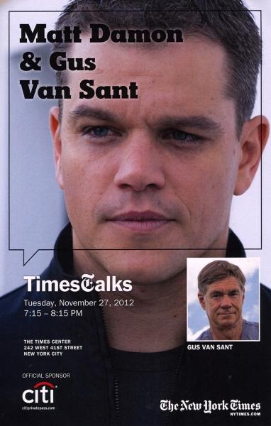 Event Poster: Matt Damon & Gus Van Sant