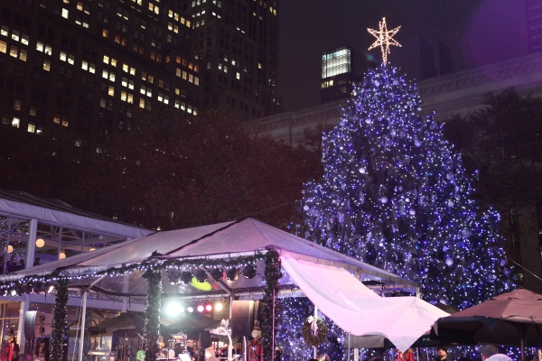 Photo Coverage: Bryant Park's Citi Pond Holiday Tree Lighting Ceremony