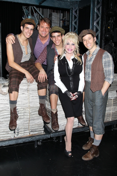 Photo Flash: Dolly Parton Visits NEWSIES!