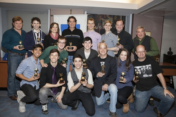 Photo Coverage: Walter McBride and the Cast of NEWSIES Receive AEA Awards!