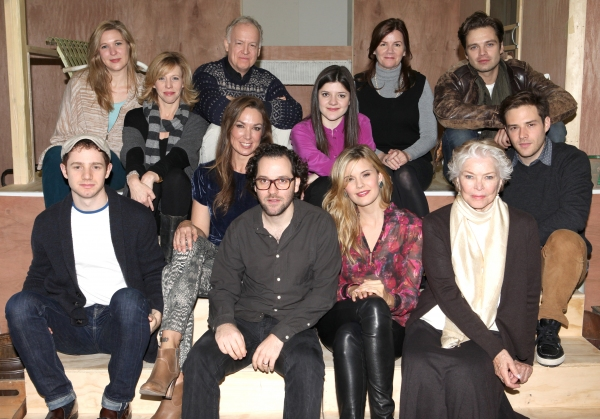 The Company - front row: Chris Perfetti, Elizabeth Marvel, Director Sam Gold, Maggie Grace, Ellen Burstyn, Ben Rappaport Back row: Cassie Beck, Maddie Corman, Reed Birney, Madeleine Martin, Mare Winningham & Sebastian Stan  at FREEZE FRAME: Meet the Company of PICNIC- Maggie Grace, Elizabeth Marvel, Sebastian Stan and More!