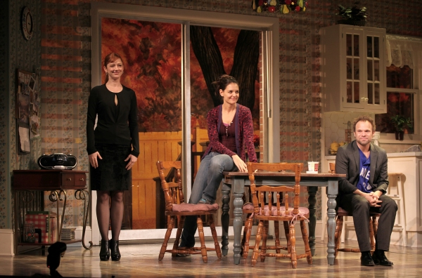 Judy Greer, Katie Holmes & Norbert Leo Butz at DEAD ACCOUNTS on Broadway - Opening Night Curtain Call