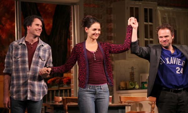 Josh Hamilton, Katie Holmes & Norbert Leo Butz at DEAD ACCOUNTS on Broadway - Opening Night Curtain Call