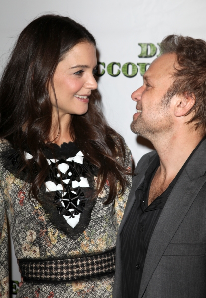Katie Holmes & Norbert Leo Butz at DEAD ACCOUNTS Opening Night Party