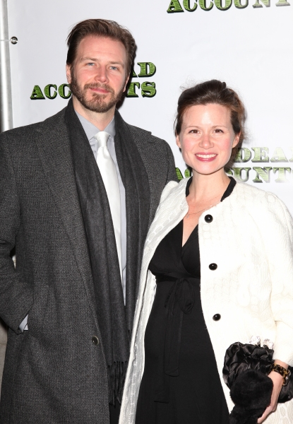 Bill Heck & Maggie Lacey at DEAD ACCOUNTS - Red Carpet Theatre Arrivals