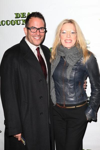Michael Mayer & Sherrie Rene Scott at DEAD ACCOUNTS - Red Carpet Theatre Arrivals