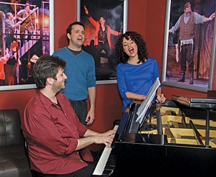 Musical Director Emmanuel Schvartzman, Christopher A. Kent and Janet Dacal Photo
